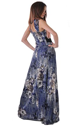 дълга лятна рокля от сатен