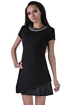 elegantna cherna roklya ot butik addict cosmo black 3