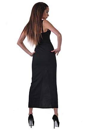 elegantna cherna roklya ot butik addict cosmo black 4 3