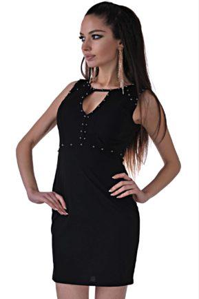 elegantna cherna roklya ot butik addict cosmo black 74