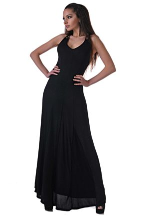 elegantna cherna roklya ot butik addict cosmo black 8