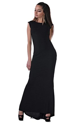 elegantna cherna roklya ot butik addict cosmo black 92