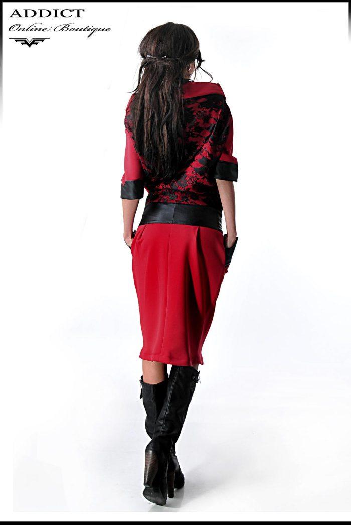 есенна червена рокля