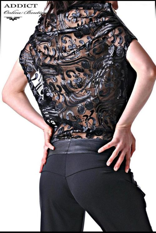черен-гащеризон-с-дантела-на-гърба