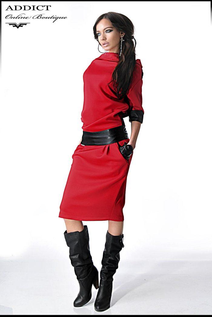 червена рокля ALEXIS RED