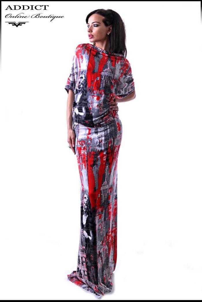 рокля на цветя VANESSA GRAFFITI