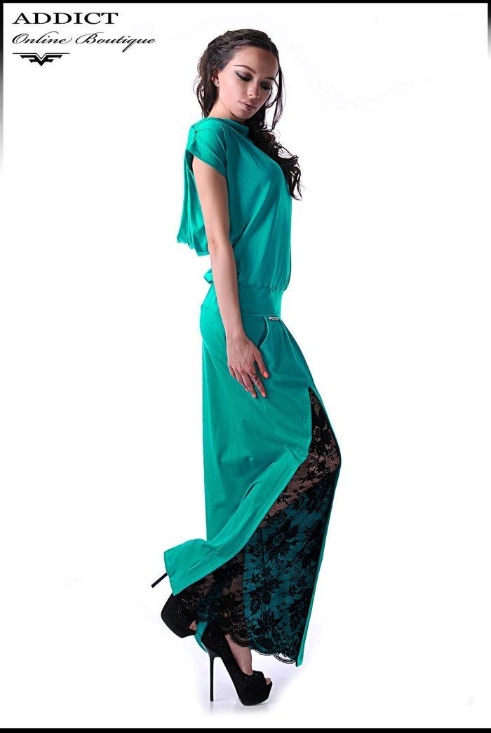 тюркуаз стилна рокля марая