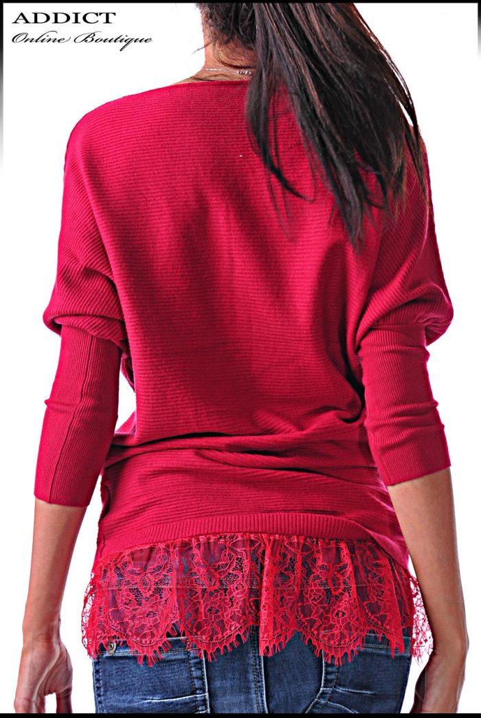 дамска блуза червена blouse-40