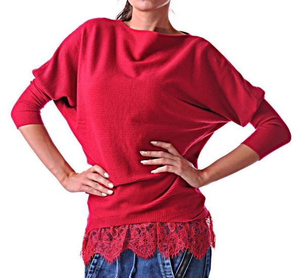 дамска ежедневна червена блуза blouse-40