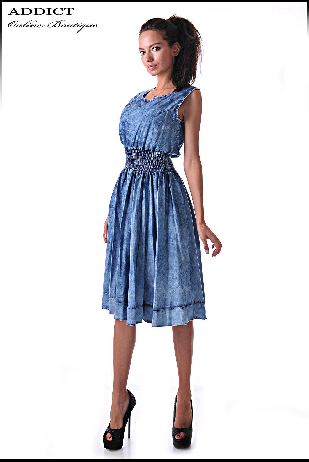 дънкова рокля жаклин denim