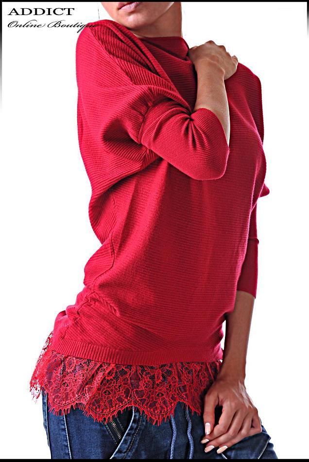 ежедневна блуза червена blouse-40