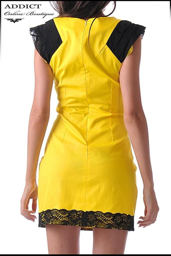 жълта рокля bella yellow 1