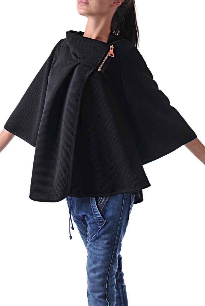 туника overcoat black 3 черна фимейл фешън