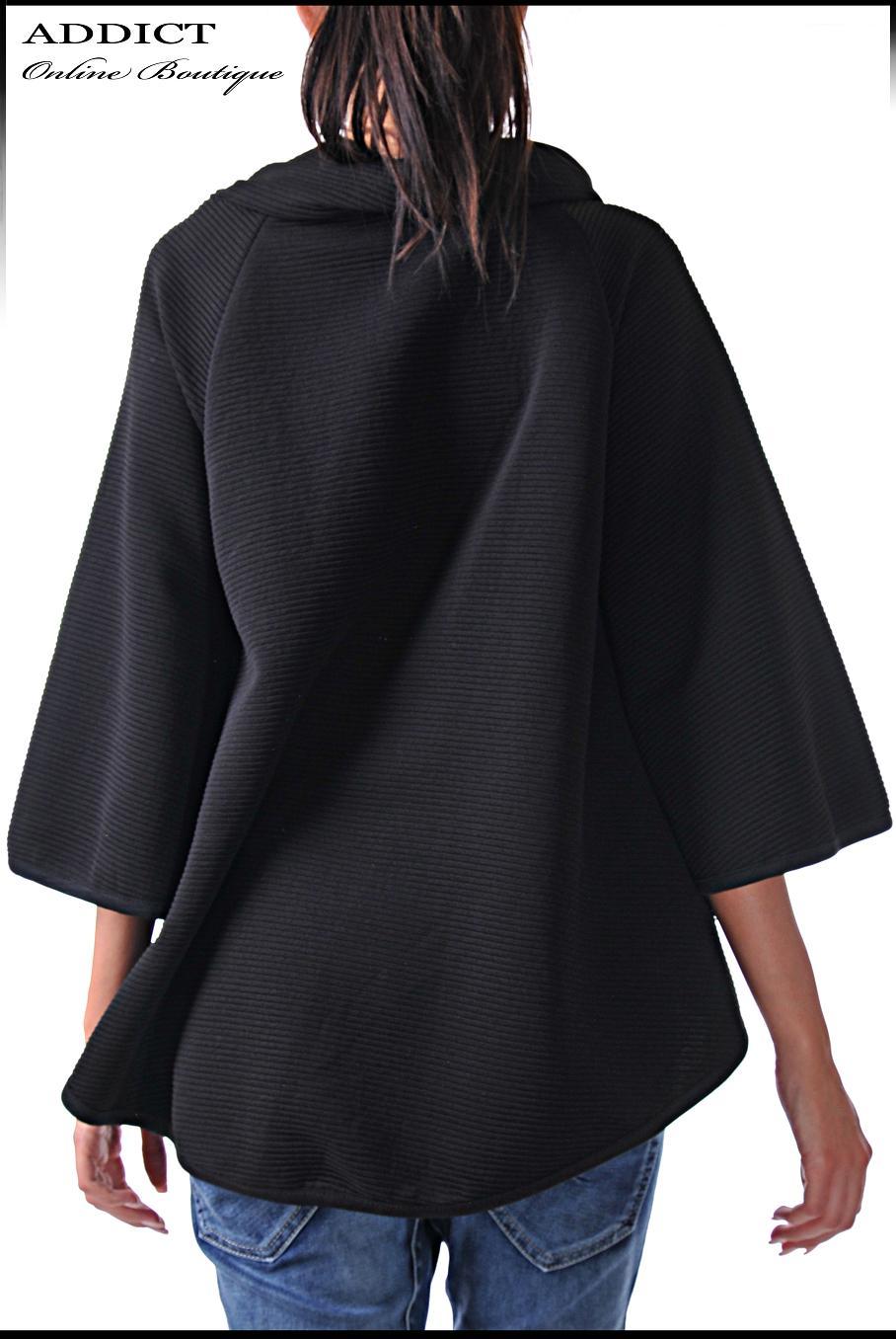 туника overcoat black 3 черна