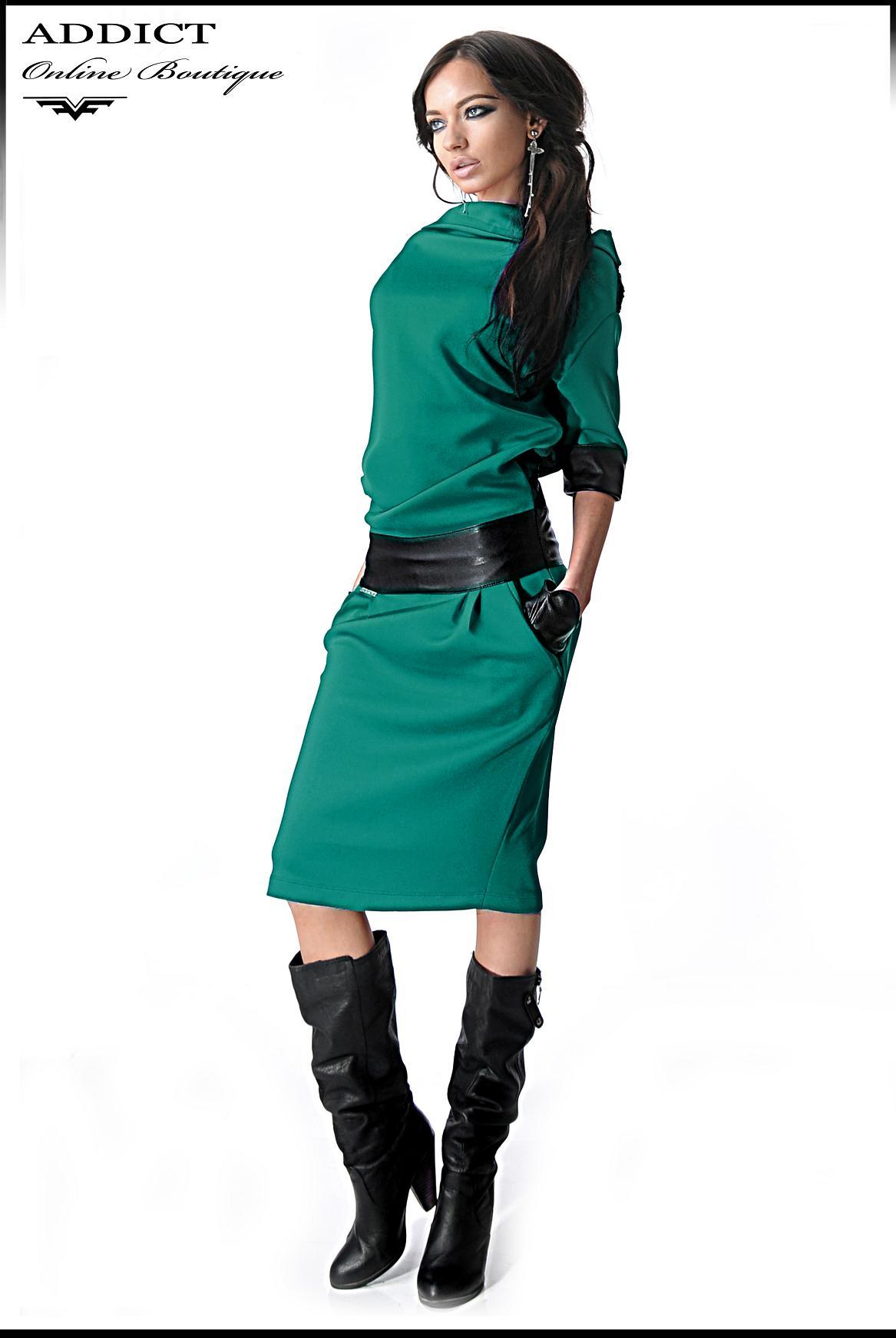 рокля ALEXIS TURQUOISE зелена