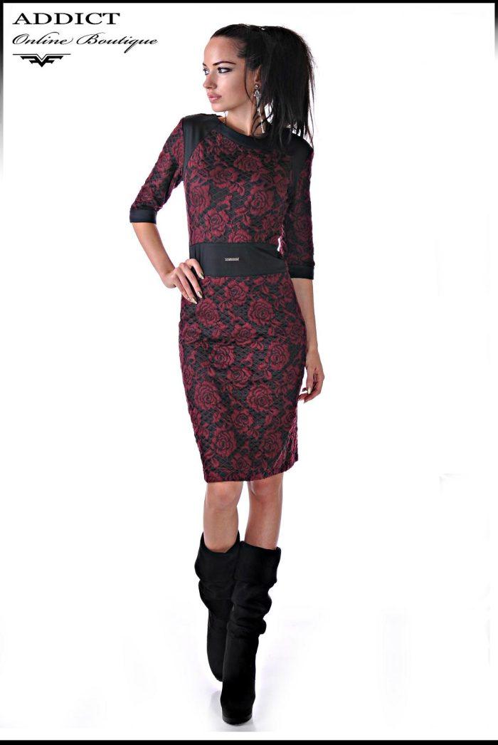 червена рокля madlen