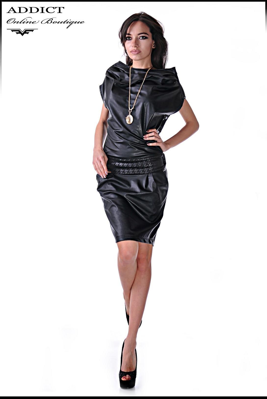 Черна рокля MORGAN 1 4