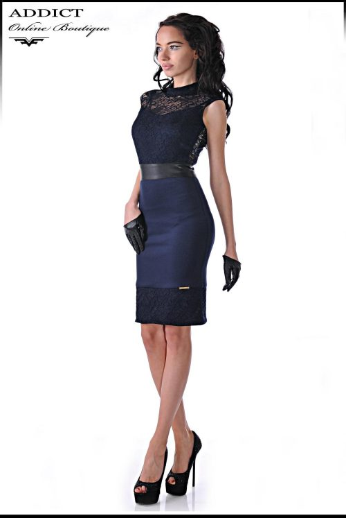 Синя рокля MARCHELA 2 BLUE 1