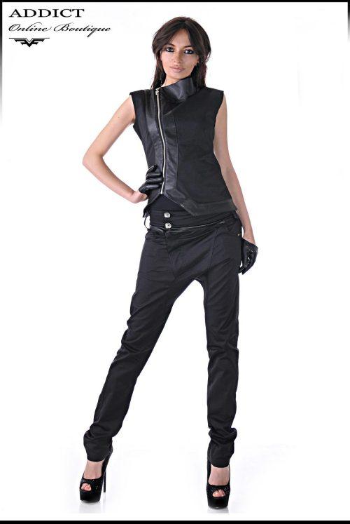 черен спортен дамски комплект адикт бутик