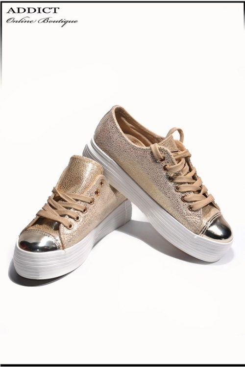 Дамски обувки Snakers 7 Gold 1 2