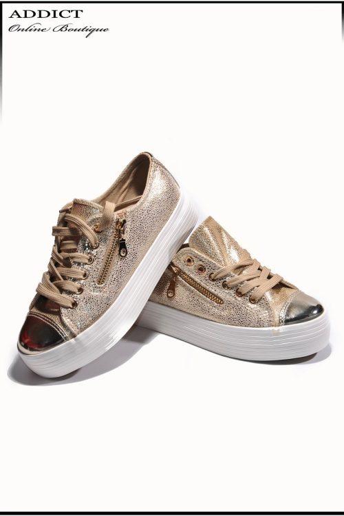 Дамски обувки Snakers 7 Gold 1 6