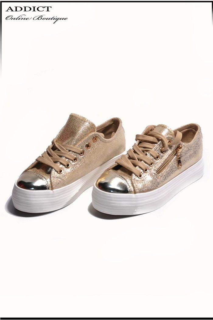 Дамски обувки Snakers 7 Gold 1