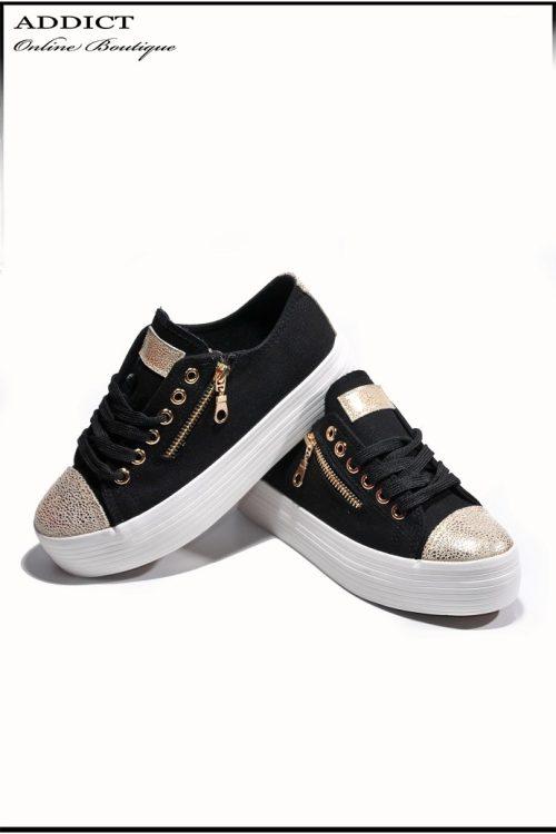 Дамски обувки Snakers 9 черни 2