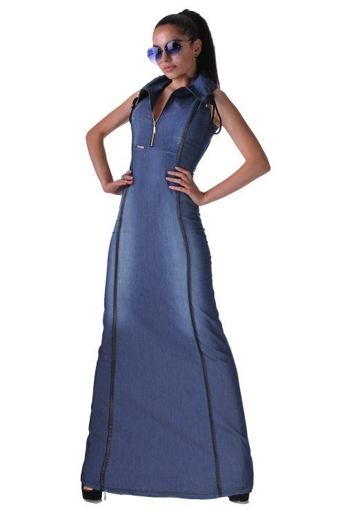 Дълга-дънкова-рокля
