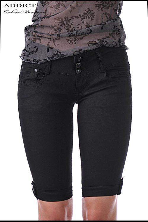 черни къси летни дънки панталони адикт бутик