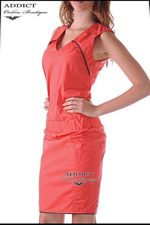 лятна оранжева рокля корал