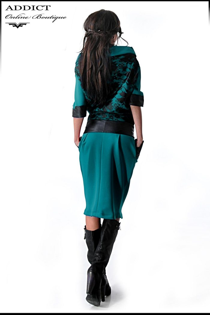 тюркоазена рокля