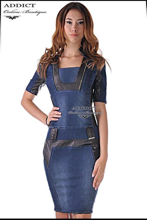 дънкова рокля милано дизайнерска адикт бутик