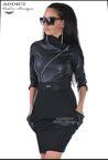 елегантна черна рокля