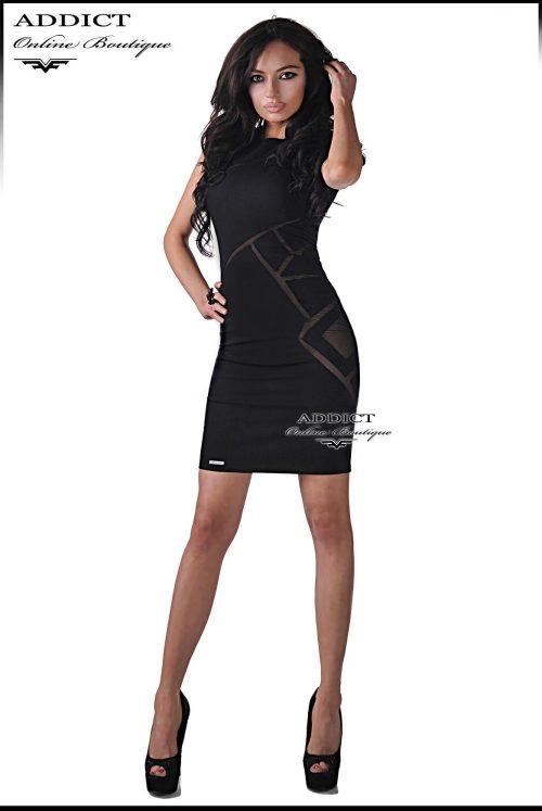 черна рокля къса от адикт бутик