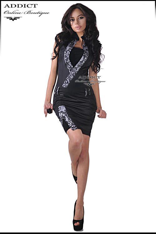 черна рокля от адикт бутик