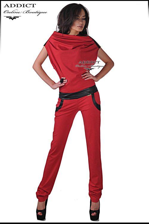 Спспортен червен гащеризон от адикт бутик