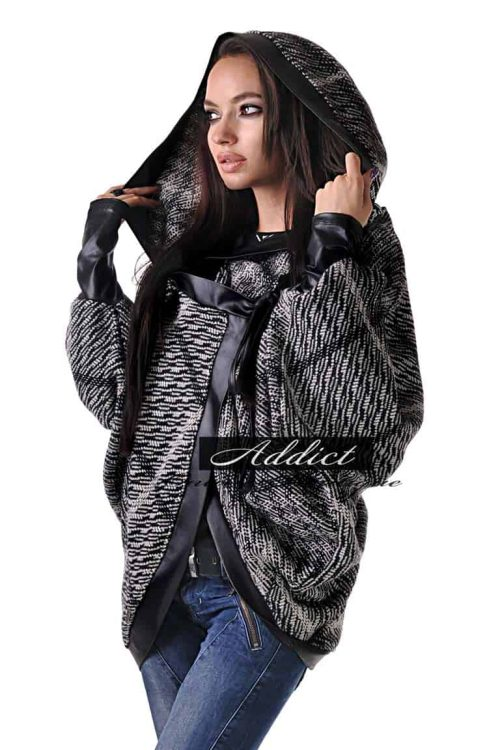 zimno poncho overcoat grey butik addict lozanova 2