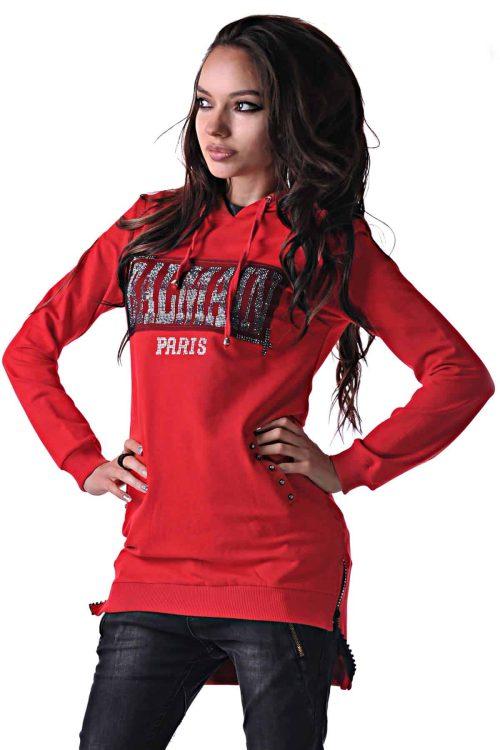 червена блуза