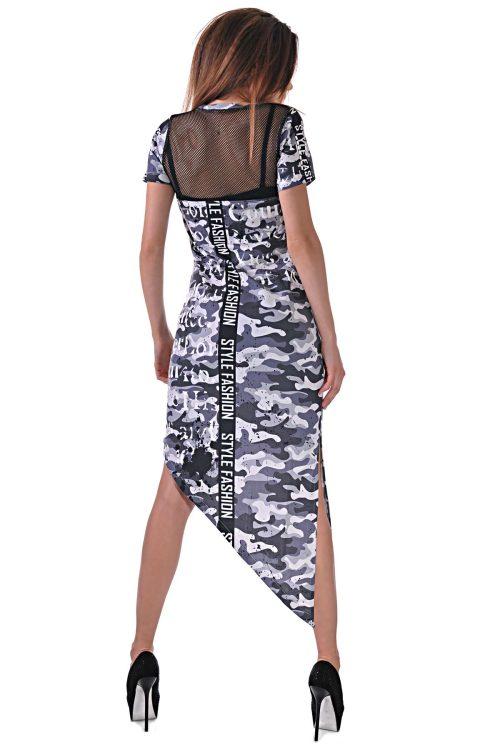 камуфлажна рокля