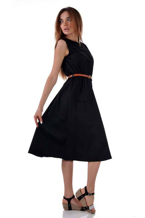 лятна черна рокля