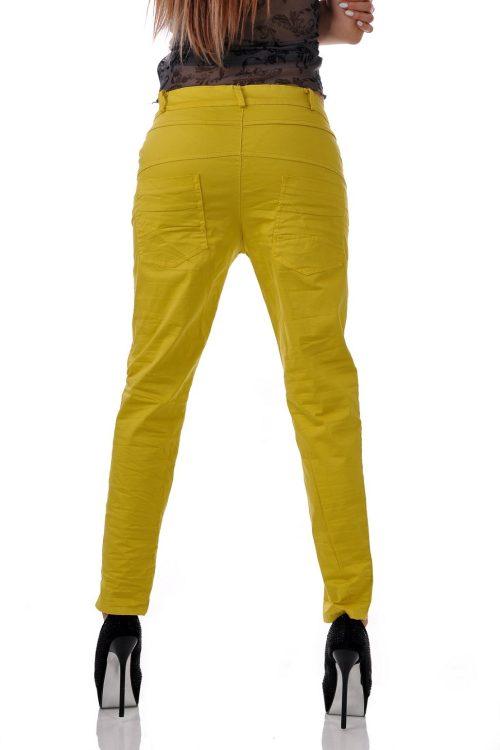 летен панталон в жълт цвят от адикт бутик