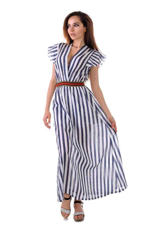 дълга лятна разкроена рокля