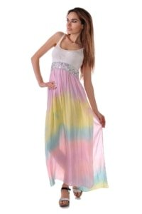 плажна лятна рокля спрезрамки от плетиво