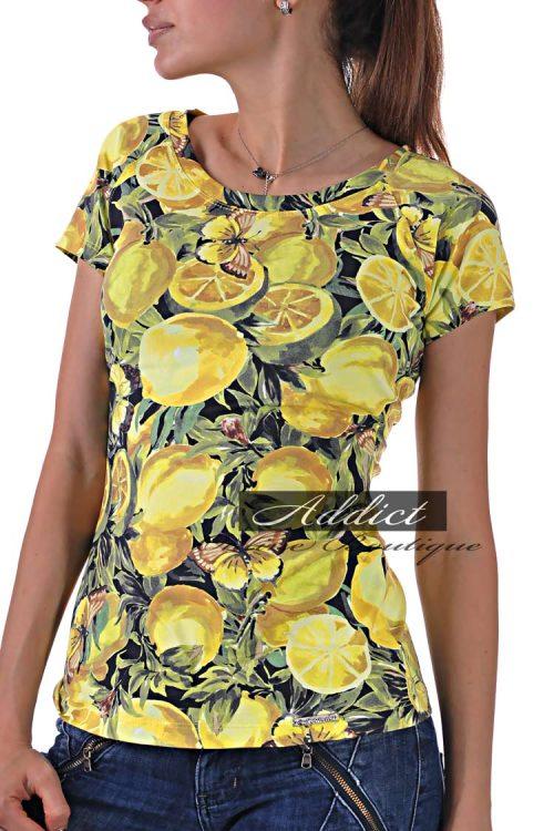 тениска лимони жълта