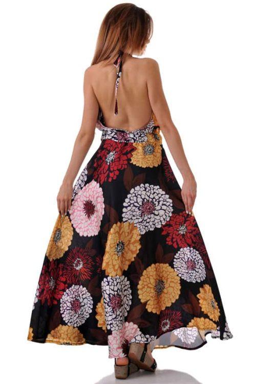 супер яка лятна рокля на цветя и гол гръб намалена