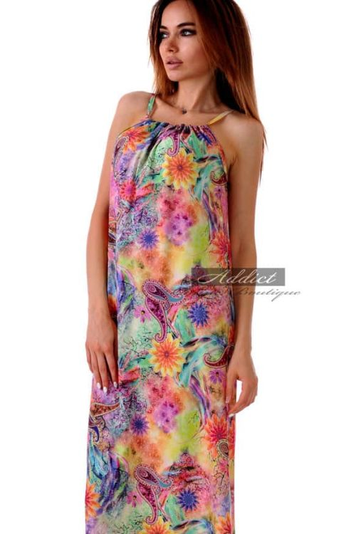 дълга лятна рокля от адикт бутик