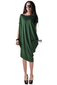 лятна зелена рокля свободна кройка