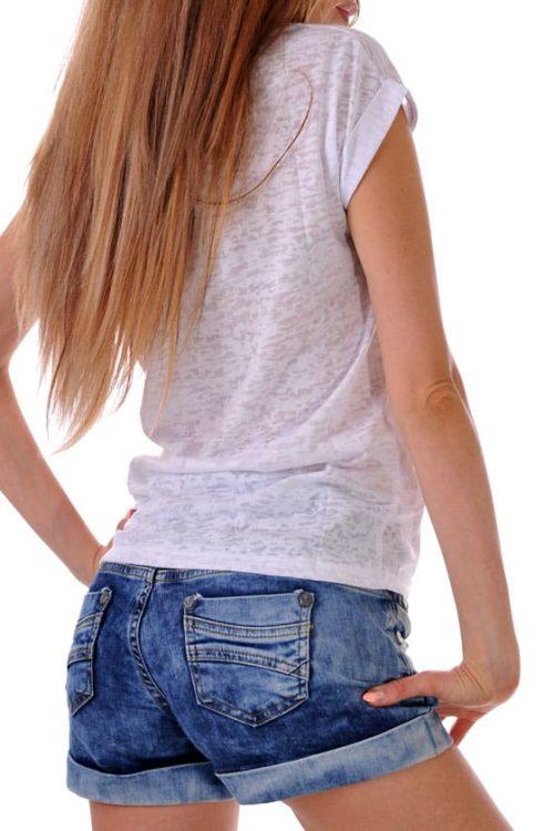 лятна тениска от памук адикт бутик