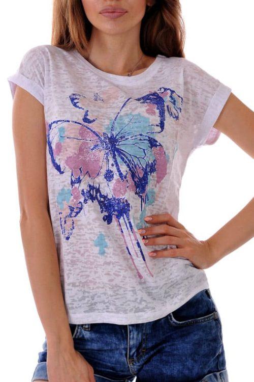лятна тениска от тънка памучна материя без ръкав адикт бутик