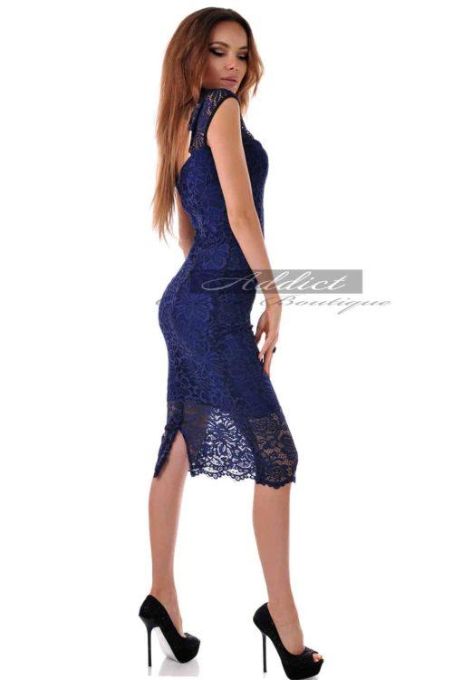 дантелена синя рокля адикт алеса кокетна